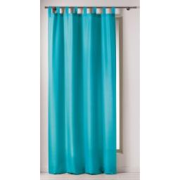 Rideau a passants 140 x 260 cm polyester uni punchy Bleu