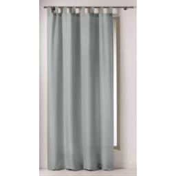 Rideau a passants 140 x 260 cm polyester uni punchy Perle