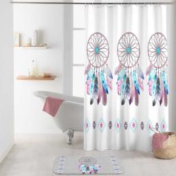 rideau de douche avec crochets 180 x 200 cm polyester imprime amerindien