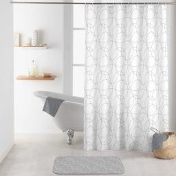 rideau de douche avec crochets 180 x 200 cm polyester imprime eltoni