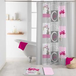 rideau de douche avec crochets 180 x 200 cm polyester imprime imako