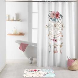 rideau de douche avec crochets 180 x 200 cm polyester imprime oiti des. place