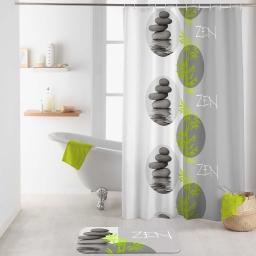 rideau de douche avec crochets 180 x 200 cm polyester imprime tibetain