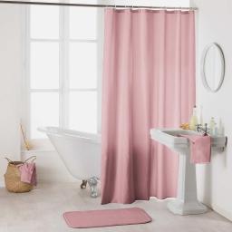 Rideau de douche avec crochets 180 x 200 cm polyester uni essencia Dragee