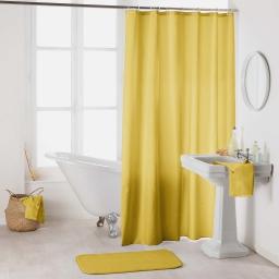 Rideau de douche avec crochets 180 x 200 cm polyester uni essencia Miel