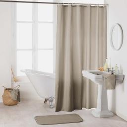 Rideau de douche avec crochets 180 x 200 cm polyester uni essencia Taupe
