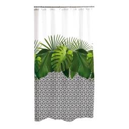 rideau de douche polyester 180*h200cm graphic jungle