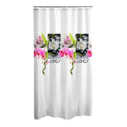 rideau de douche polyester 180*h200cm lovely
