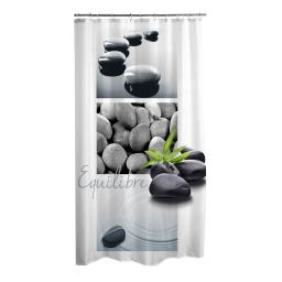 rideau de douche polyester 180*h200cm stone