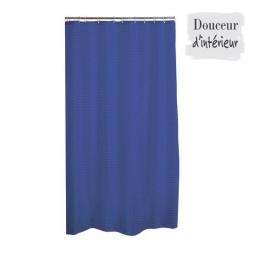 Rideau de douche tissu uni diamant 180x200 cm Bleu roi