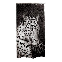 rideau douche textile 180x200cm douceur d'interieur design panthere