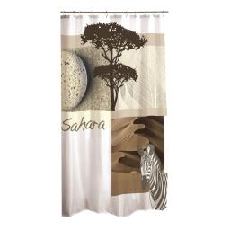 rideau douche textile 180x200cm douceur d'interieur design zebre