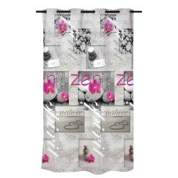 rideau douche textile 180x200cm douceur d'interieur theme zen spirit