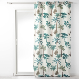 rideau tamisant 140 x 260 cm polyester imprime banany