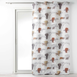 rideau tamisant 140 x 260 cm polyester imprime toundra