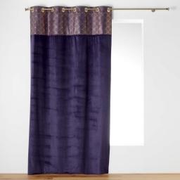 Rideau tamisant en venour violet/or 140 x 240 cm imprimé Duchesse