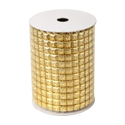 rouleau de table maille-couleur or brillant-2m*8cm