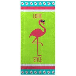 serviette de plage 70 x 150 cm eponge velours imprime exotic style
