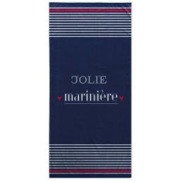 serviette de plage 70 x 150 cm eponge velours imprime jolie mariniere