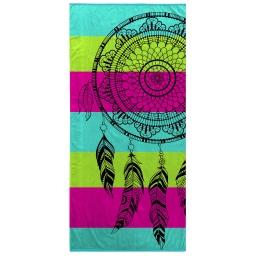 serviette de plage 70 x 150 cm eponge velours imprime mirage
