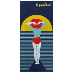 serviette de plage 70 x 150 cm eponge velours imprime sunset