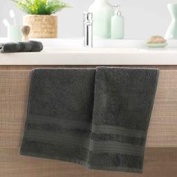 Serviette de toilette 50 x 90 cm eponge 600 gr/m² excellence Anthracite