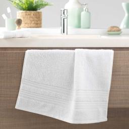 Serviette de toilette 50 x 90 cm eponge 600 gr/m² excellence Blanc