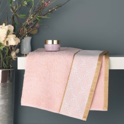 Serviette de toilette 50 x 90 cm eponge absorbante goldy Rose/or
