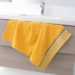 Serviette de toilette 50 x 90 cm eponge unie jacquard adelie Miel