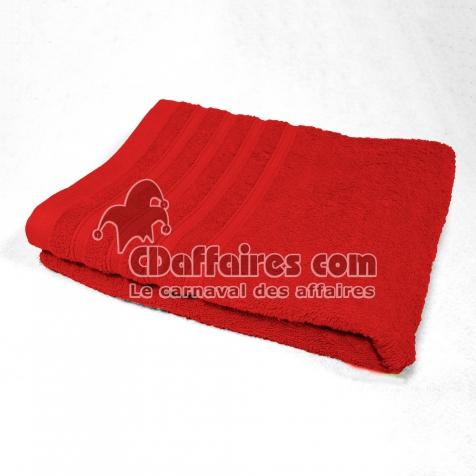 Serviette de toilette 50 x 90 cm eponge unie vitamine Rouge