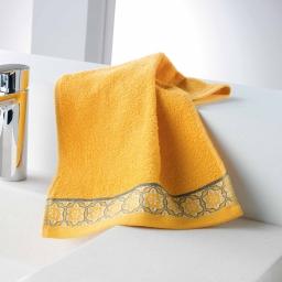Serviette invite 30 x 50 cm eponge unie jacquard adelie Miel