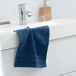 Serviette invite 30 x 50 cm eponge unie vitamine Bleu nuit