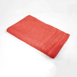 Serviette invite 30 x 50 cm eponge unie vitamine Corail