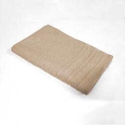 Serviette invite 30 x 50 cm eponge unie vitamine Taupe