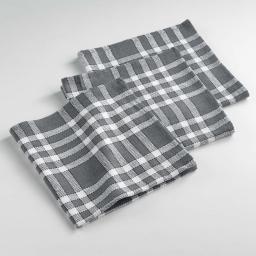 Serviettes de table /3 45 x 45 cm coton tisse traditio Anthracite
