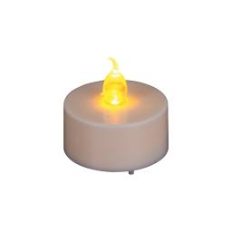 set 2 bougies chauffe-plat flamme 1 led bc chaud plastique ø3.8cm piles