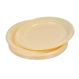 set 20 assiettes plates ps ø22cm -  creme