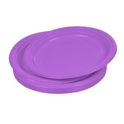 set 20 assiettes plates ps ø22cm -  prune