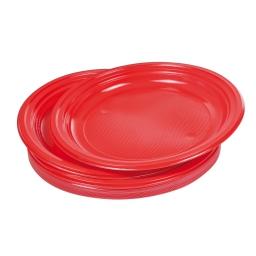 set 20 assiettes plates ps ø22cm - rouge vermeil