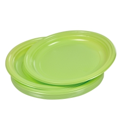 set 20 assiettes plates ps ø22cm - vert anis