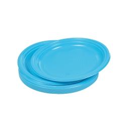 set 25 assiettes desserts ps ø17cm - bleu
