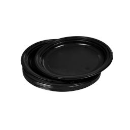 set 25 assiettes desserts ps ø17cm - noir