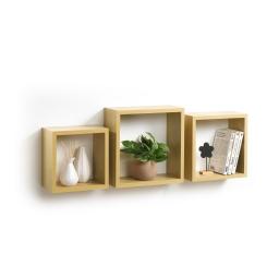 Set 3 cubes gigognes  23 x 23/26.5 x 26.5/30 x 30 cm epaisseur 1.5 cm Chene clair