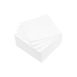 set 40 serviettes microgauffrées 2 plis 25x25cm - 17gr/m3 - blanc