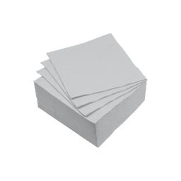 set 40 serviettes microgauffrées 2 plis 25x25cm - 17gr/m3 - gris
