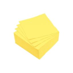 set 40 serviettes microgauffrées 2 plis 25x25cm - 17gr/m3 - jaune
