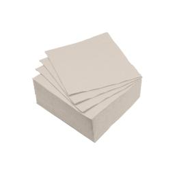 set 40 serviettes microgauffrées 2 plis 25x25cm - 17gr/m3 - taupe