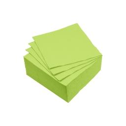 set 40 serviettes microgauffrées 2 plis 25x25cm - 17gr/m3 - vert