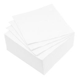 set 40 serviettes microgauffrées 2 plis 38x38cm - 17gr/m3 - blanc