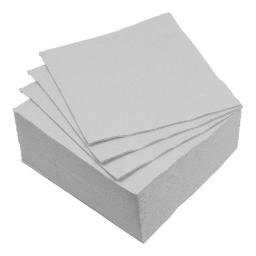 set 40 serviettes microgauffrées 2 plis 38x38cm - 17gr/m3 - gris